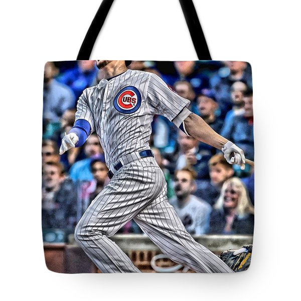 Kris Bryant Chicago Cubs Tote Bag by Joe Hamilton