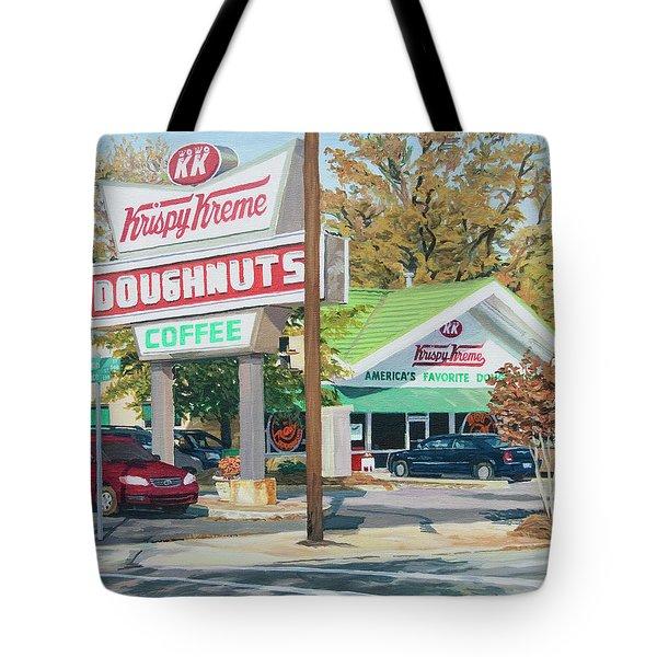 Krispy Kreme At Daytime Tote Bag by Tommy Midyette
