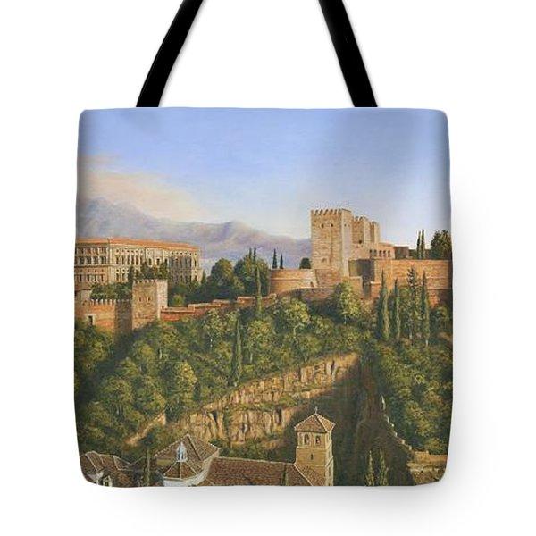 La Alhambra Granada Spain Tote Bag by Richard Harpum