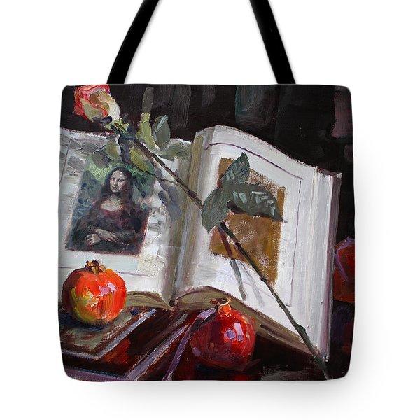 La Gioconda Tote Bag by Ylli Haruni