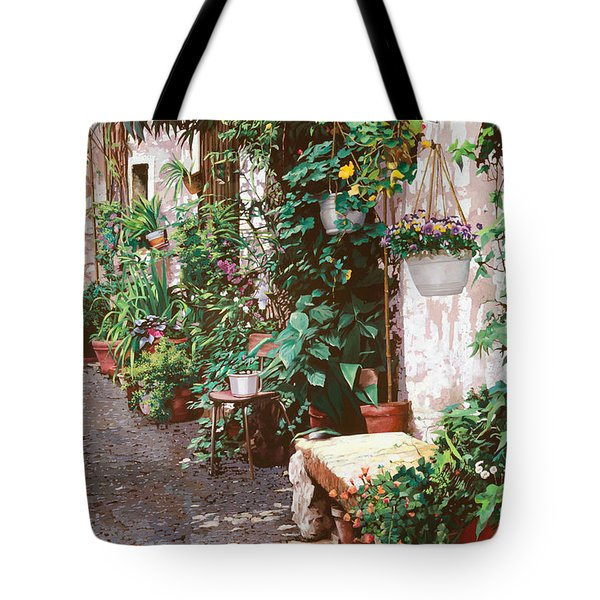 La Panca Di Pietra Tote Bag by Guido Borelli