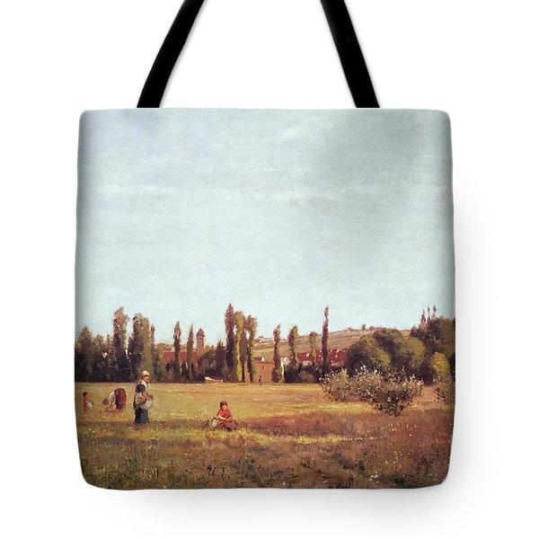 La Varenne De St. Hilaire Tote Bag by Camille Pissarro