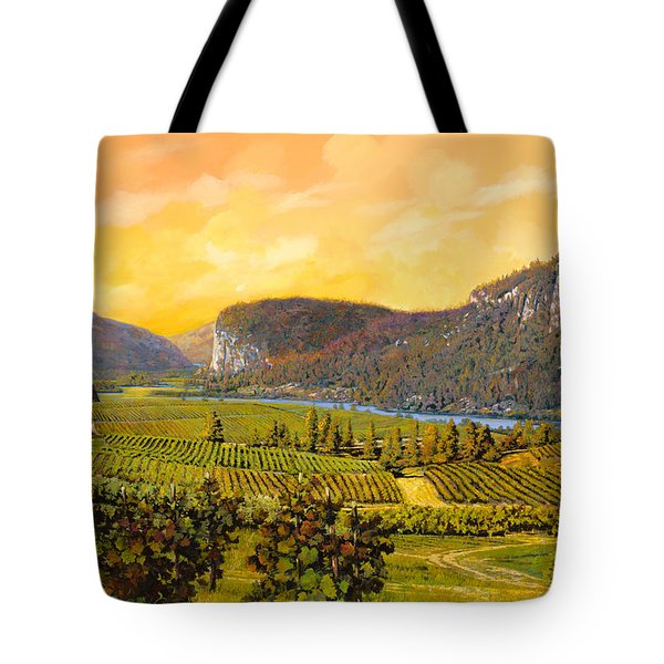 La Vigna Sul Fiume Tote Bag by Guido Borelli
