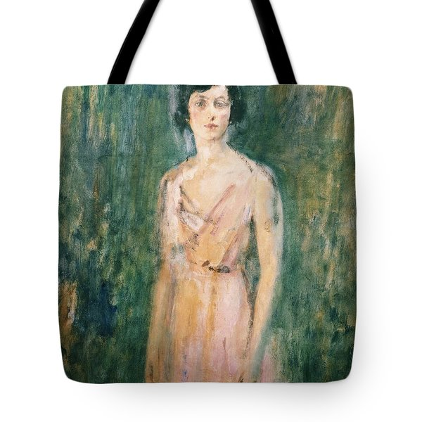 Lady In A Pink Dress Tote Bag by Ambrose McEvoy