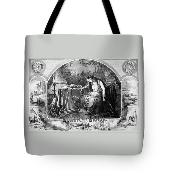 Lady Liberty Mourns During The Civil War Tote Bag by War Is Hell Store