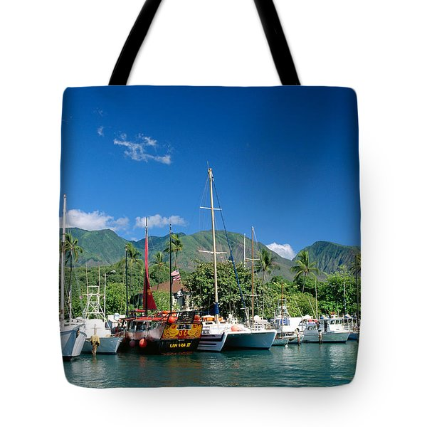 Lahaina Harbor - Maui Tote Bag by William Waterfall - Printscapes
