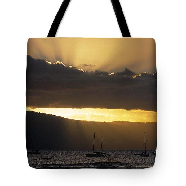Lahaina Sunset - Maui Tote Bag by Sandra Bronstein