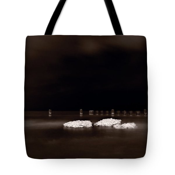 Lake Ice Tote Bag by Steve Gadomski