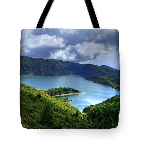 Lake in the Azores Tote Bag by Gaspar Avila