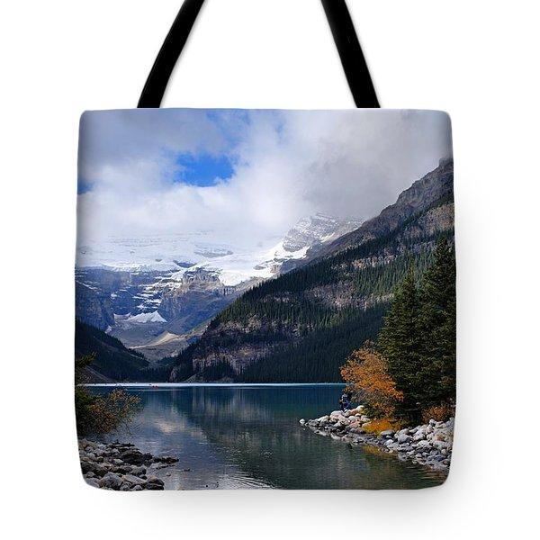 Lake Louise Tote Bag by Larry Ricker