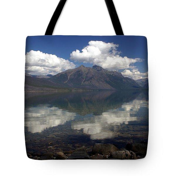 Lake Mcdonald Reflection Glacier National Park Tote Bag by Marty Koch