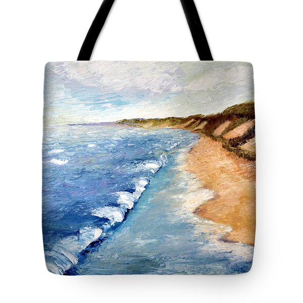 Lake Michigan with Whitecaps ll Tote Bag by Michelle Calkins