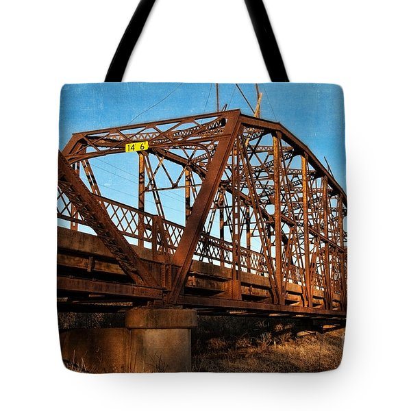 Lake Overholser Bridge Tote Bag by Lana Trussell