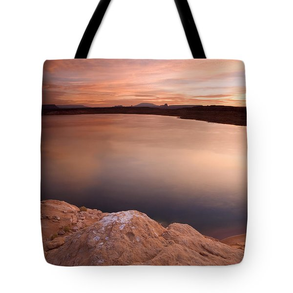 Lake Powell Dawn Tote Bag by Mike  Dawson