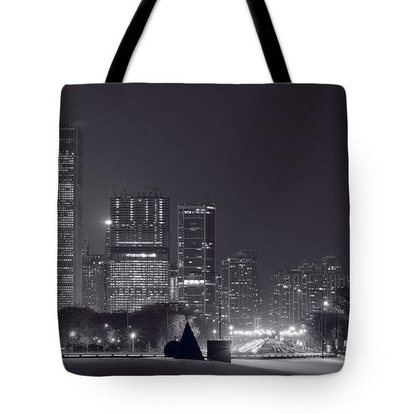 Lake Shore Drive Chicago B And W Tote Bag by Steve Gadomski