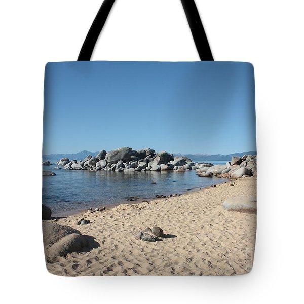 Lake Tahoe Morning Tote Bag by Carol Groenen
