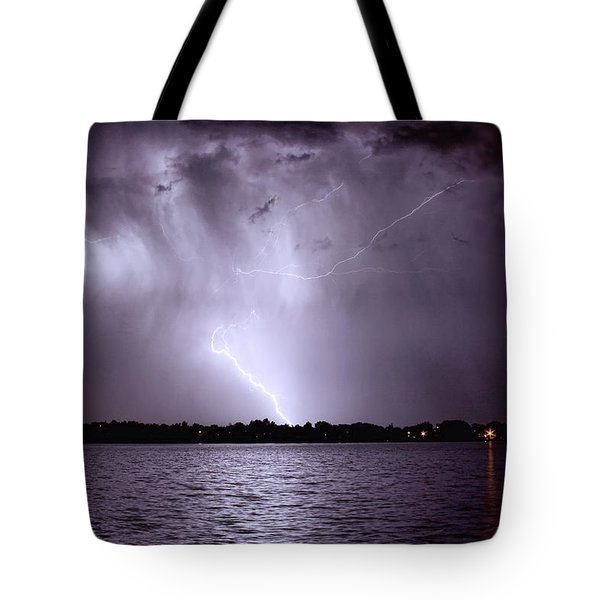 Lake Thunderstorm Tote Bag by James BO  Insogna