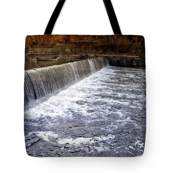 Lake To Lake Waterfall Tote Bag by Joan  Minchak