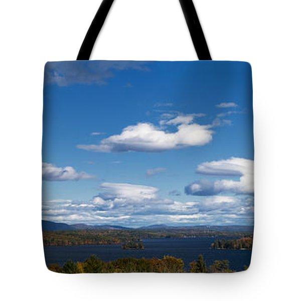 Lake Winnipesaukee New Hampshire In Autumn Tote Bag by Stephanie McDowell