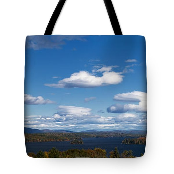 Lake Winnipesaukee New Hampshire in Autumn Tote Bag by Stephanie McDowell