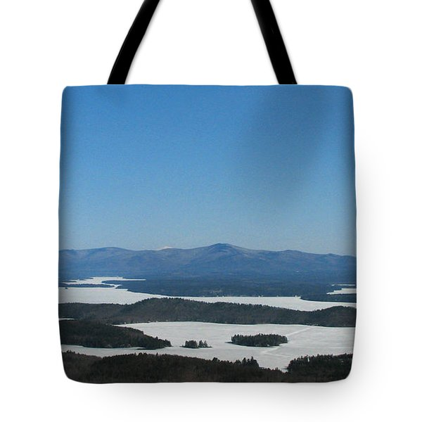 Lake Winnipesaukee view from Mt. Major Tote Bag by Michael Mooney