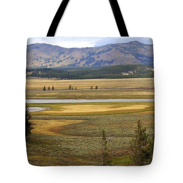 Lamar Valley 1 Tote Bag by Marty Koch