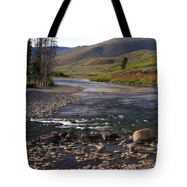 Lamar Valley 3 Tote Bag by Marty Koch
