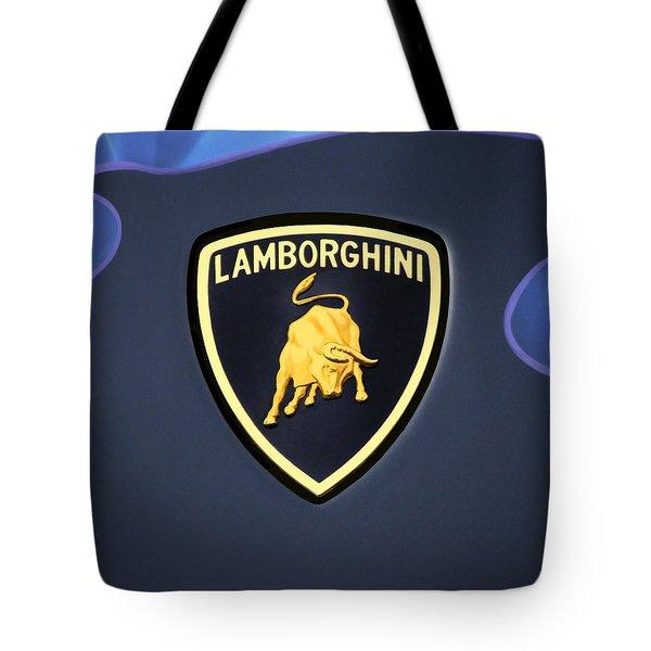 Lamborghini Emblem Tote Bag by Mike McGlothlen