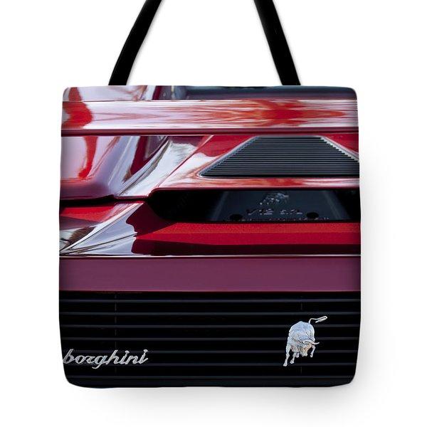 Lamborghini Rear View Tote Bag by Jill Reger