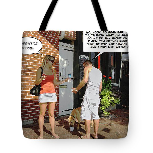 Lame Excuses Tote Bag by Brian Wallace