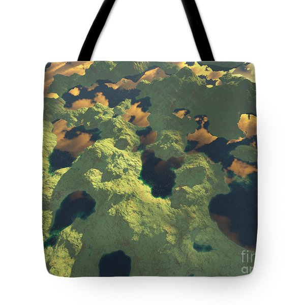 Land Of A Thousand Lakes II Tote Bag by Gaspar Avila