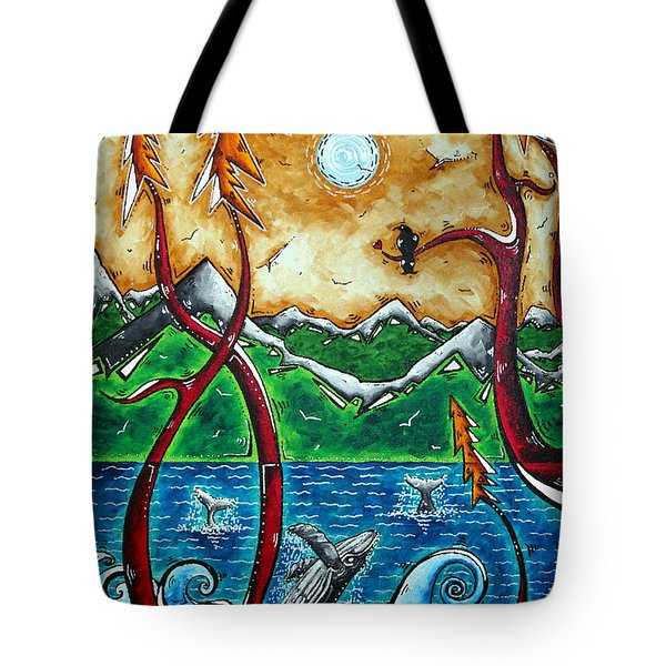 Land Of The Free Original Madart Painting Tote Bag by Megan Duncanson