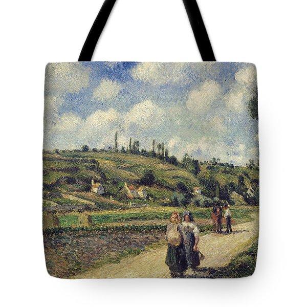 Landscape Near Pontoise Tote Bag by Camille Pissarro