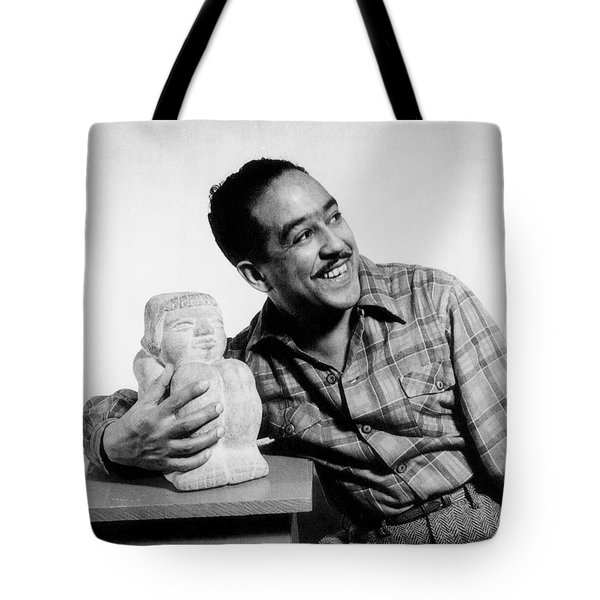 Langston Hughes (1902-1967) Tote Bag by Granger