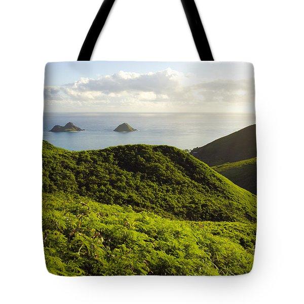 Lanikai Hills Tote Bag by Dana Edmunds - Printscapes
