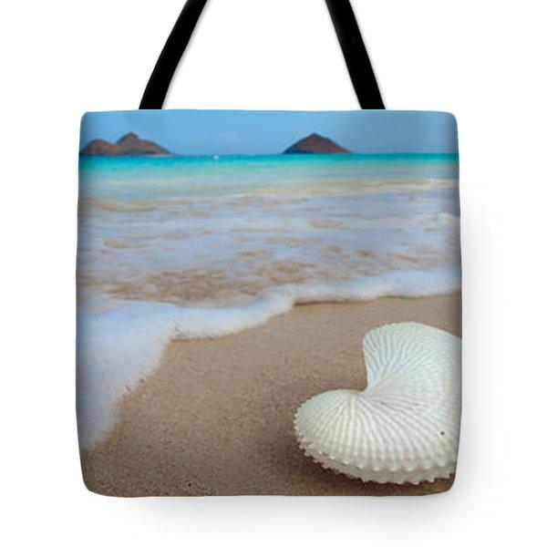 Lanikai Paper Nautilus Tote Bag by Sean Davey