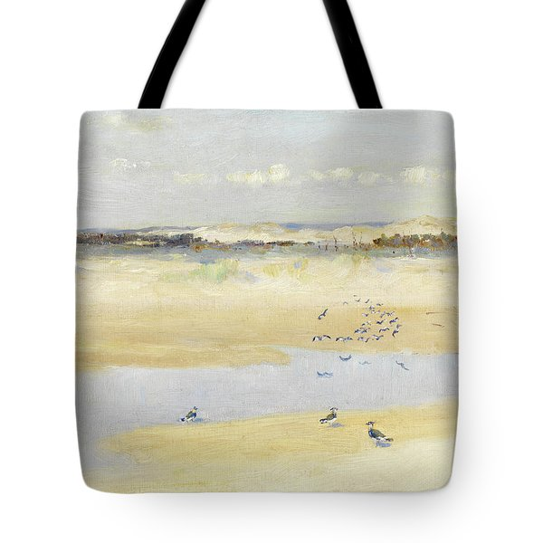 Lapwings By The Sea Tote Bag by William James Laidlay