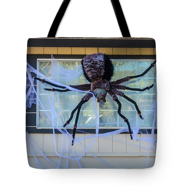 Large Scary Spider  Tote Bag by Garry Gay