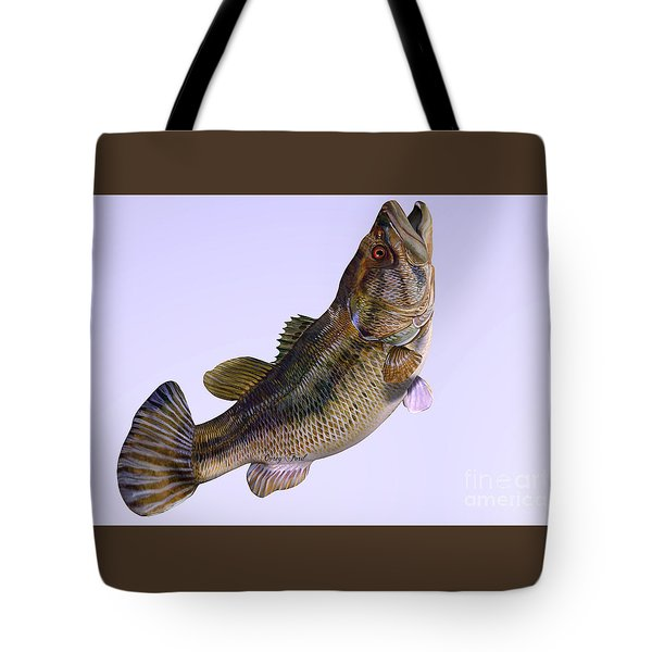 Largemouth Bass Side Profile Tote Bag by Corey Ford