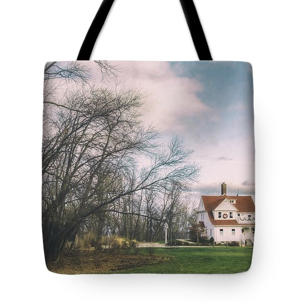 Late Afternoon At The Lighthouse Tote Bag by Scott Norris