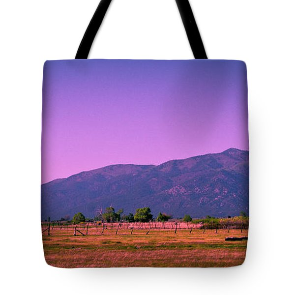 Late Afternoon in Taos Tote Bag by David Patterson