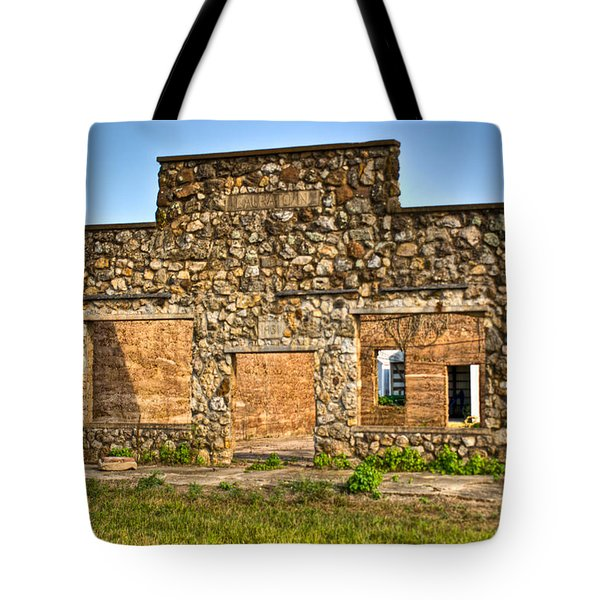 Lauratown Arkansas a Ghost of the Past Tote Bag by Douglas Barnett