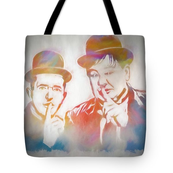 Laurel And Hardy Tote Bag by Dan Sproul