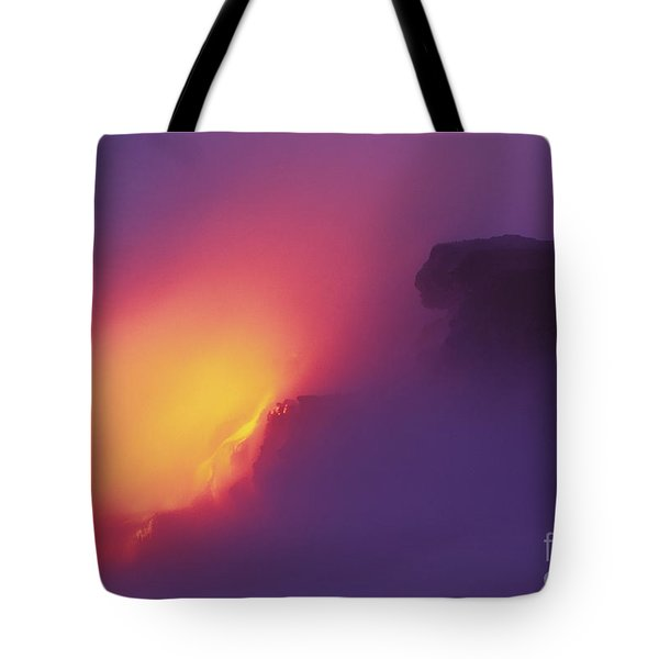 Lava Meets The Sea Tote Bag by William Waterfall - Printscapes