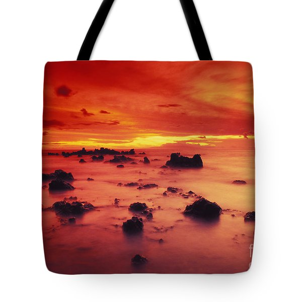 Lava Rock Beach Tote Bag by Dave Fleetham - Printscapes