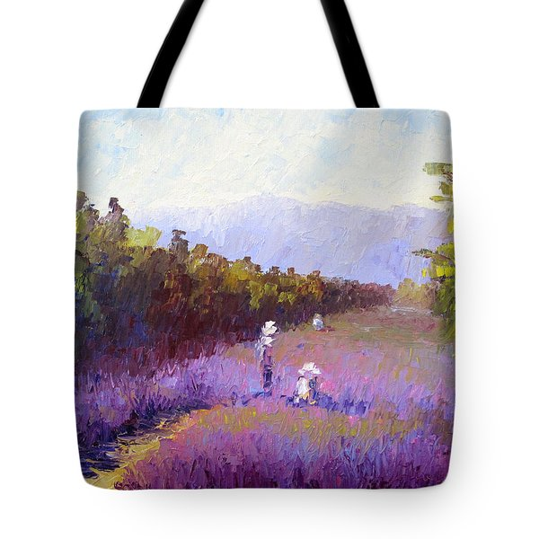 Lavender Fields Tote Bag by Terry  Chacon
