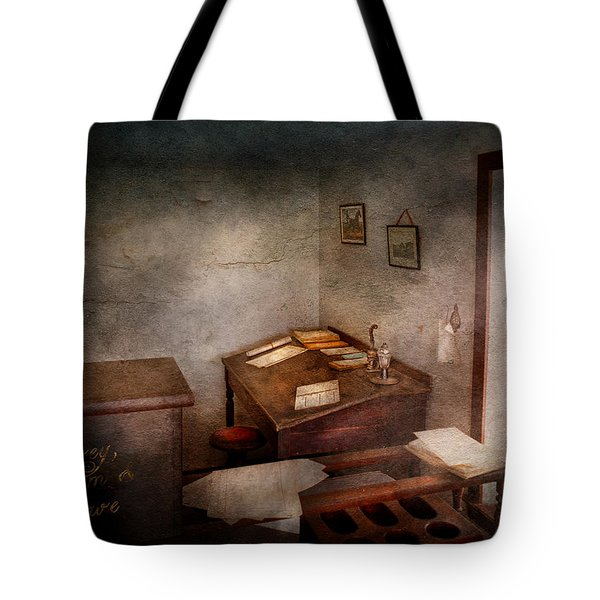 Lawyer - The Law office Tote Bag by Mike Savad