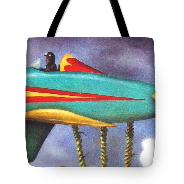 Lazy Bird Plane Detail Tote Bag by Leah Saulnier The Painting Maniac