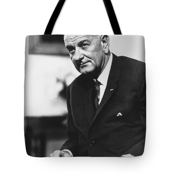 Lbj  Tote Bag by War Is Hell Store