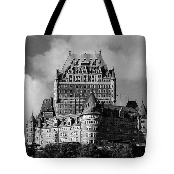 Le Chateau Frontenac - Quebec City Tote Bag by Juergen Weiss
